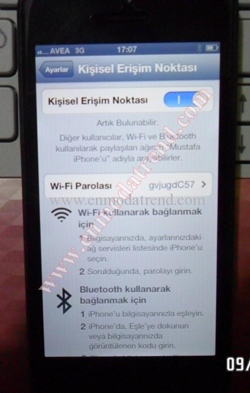 iphone 5 modem olarak kullanma (1)