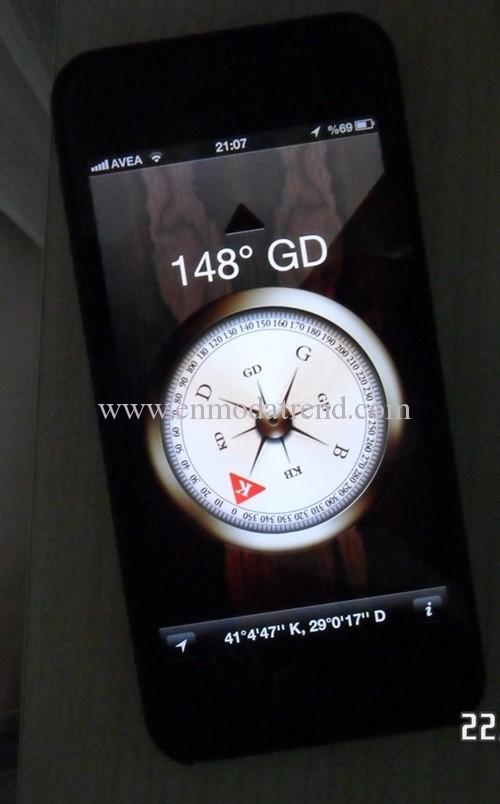 iphone 5 pusula ile kıble bulma