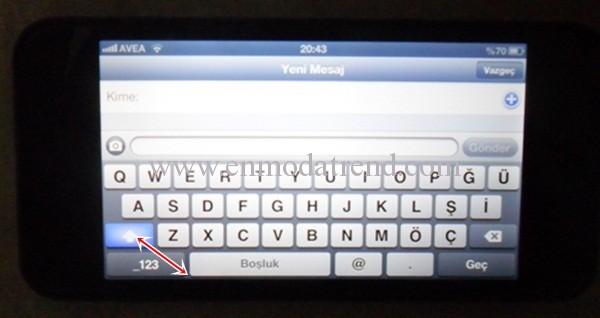 iphone5 mesaj yazma
