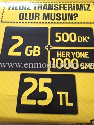 500 dk 1000 sms 2gb internet