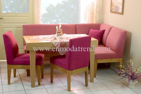 pembe köşe mutfak masası