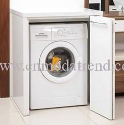 Çamaşır makinesi altına mermer ?