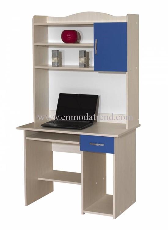 kütüphaneli bilgisayar masası