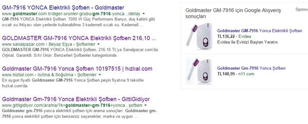 Goldmaster GM-7916 Yonca Şofben Fiyatı