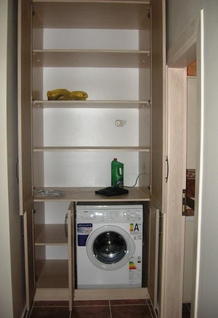 Çamaşır makinesi üzerine dolap yaptırmak istiyorum