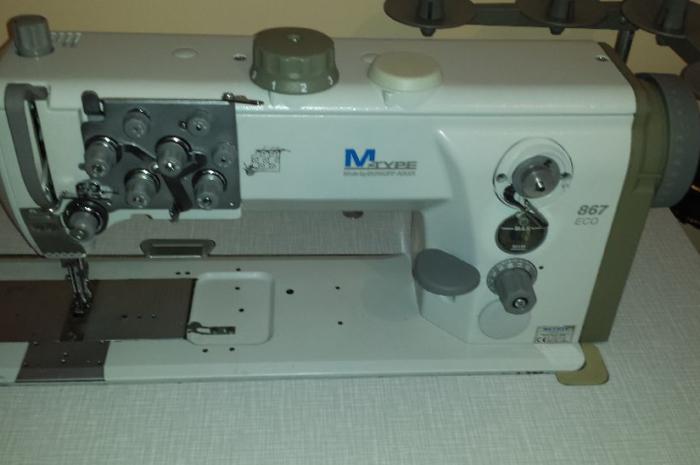 temiz durumda sağlam çift iğneli deri ve döşeme makinesi